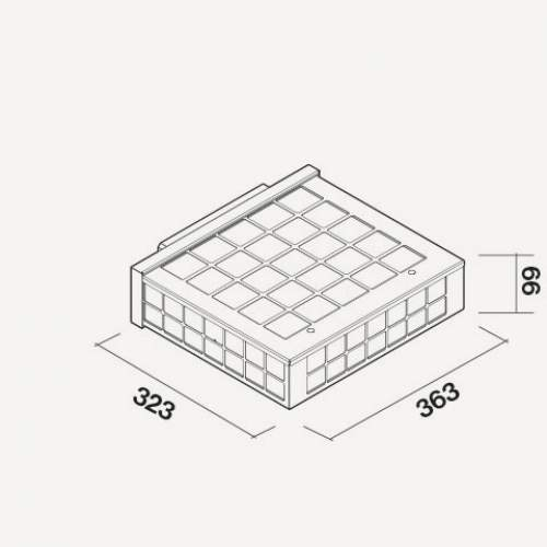 Falmec Umluftbox mit Zeolith für Sintesi/Quantum/Downdraft