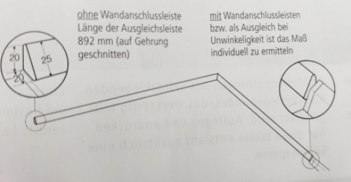 Systemceram Wandanschlussleiste Vega Eck Plus