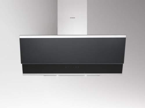 Silverline Zenith 80 cm Edelstahl/ Schwarzglas - ZEW 800 SE